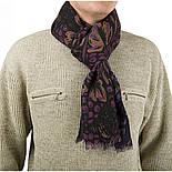 10373-15, павлопосадский шарф (кашне) шерстяной (разреженная шерсть) с осыпкой, фото 2