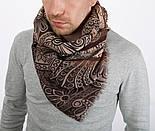 Кашне мужское разреженная шерсть 10372-, павлопосадский шарф (кашне) шерстяной (разреженная шерсть) с осыпкой, фото 3