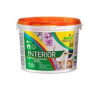 Interior краска интерьерная 4.2 кг Нанофарб