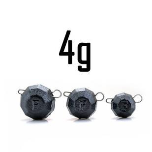 """Груз """"Гранёный"""" 4 гр. BLACK (5 шт.) Fanatik"""