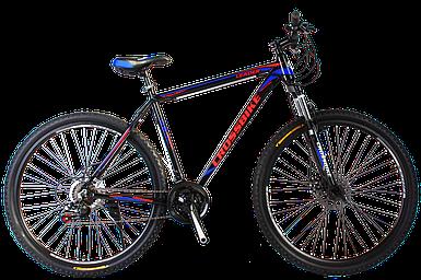 """Горный алюминиевый велосипед 27,5"""" CROSS LEADER Shimano 19.5"""", Черно-голубо красный"""
