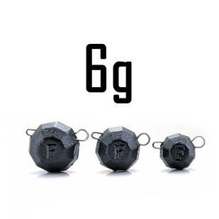 """Груз """"Гранёный"""" 6 гр. BLACK (5 шт.) Fanatik"""