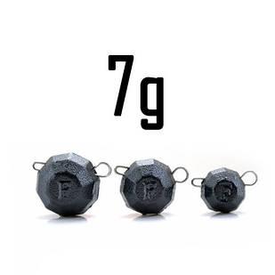 """Груз """"Гранёный"""" 7 гр. BLACK (5 шт.) Fanatik"""