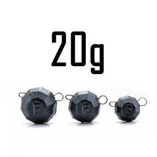 """Груз """"Гранёный"""" 20 гр. BLACK (5 шт.) Fanatik"""
