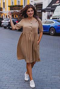 Коттоновое платье свободного фасона