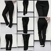 Джинсы женские батал черные с вышивкой 37р