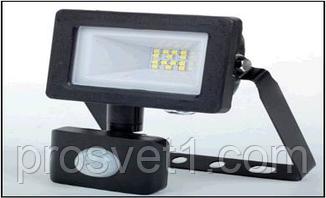 Прожектор светодиодный Melody SLP-10W 6000K черный с датчиком