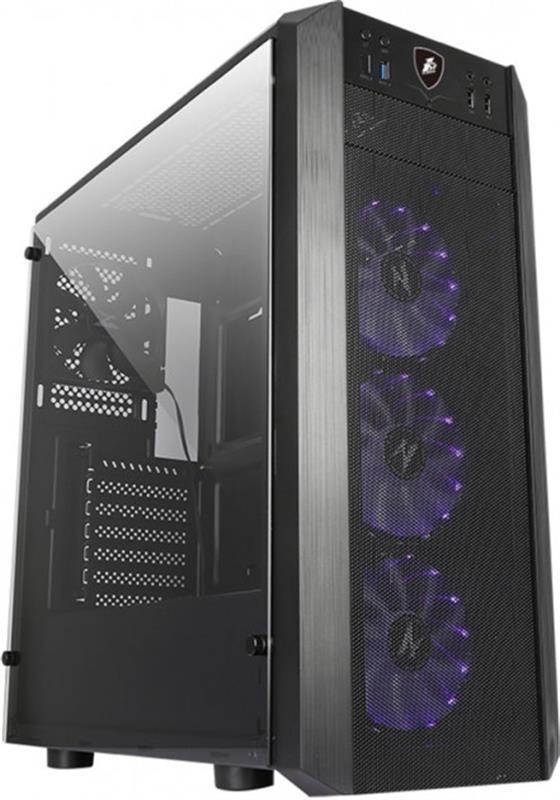 Корпус 1stPlayer D7 Blue LED Black