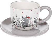 Чайний набір  Нічна серенада  чашка 240мл з блюдцем, фото 1