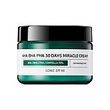 Кислотний крем для проблемної шкіри BY SOME MI AHA, BHA, PHA 30 Days Miracle Cream, 50 мл, фото 2