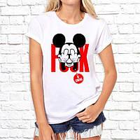 """Жіноча футболка з принтом, Swag Mickey Mouse (Мікі Маус) """"F..K"""" Push IT"""
