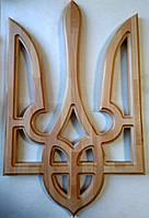 Герб Украины из дерева 500х800х36 мм