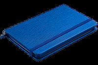 Блокнот у клітинку на резинці Buromax INGOT 95 x 140 мм 80 аркушів синій, фото 1