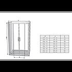 Душевые двери распашные Ravak 10 ° 10DP4 Transparent четырехэлементный, фото 4