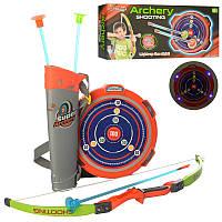 Детский лук со стрелами на присосках, мишень со световыми и звуковыми эффектами, M 6040