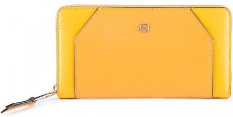 Кожаный кошелек Piquadro pd1515musr g,  женский, желтый