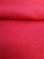 Льняная ткань для постельного белья красного цвета (шир. 260 см), фото 1