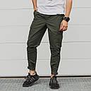 Зауженные карго штаны хаки мужские от бренда ТУР Симбиот (Symbiote) размер S, M, L, XL, XXL, фото 4