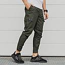 Зауженные карго штаны хаки мужские от бренда ТУР Симбиот (Symbiote) размер S, M, L, XL, XXL, фото 3