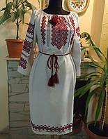 Плаття - вишиванка на сірому льоні розмір  L