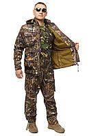 Демисезонный костюм для охоты и рыбалки Бондинг (микрофлис) Темный Камыш все размеры