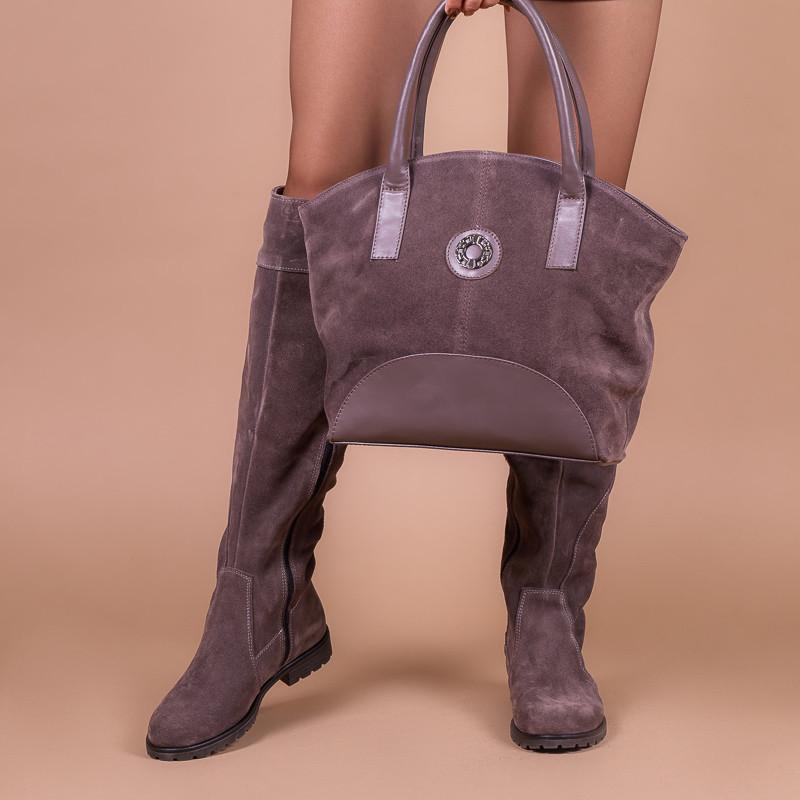 Женская сумка, натуральная замша и кожа. Пошив в любом цвете под заказ.