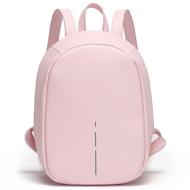 Стильный женский небольшой рюкзак-антивор из экокожи, со скрытой молнией, 8л
