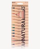 Карандаши цветные Marco Natural, 12 цв., шестигр.