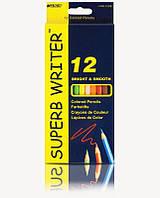 Карандаши цветные Marco Superb Writer, 12 цв., шестигр.