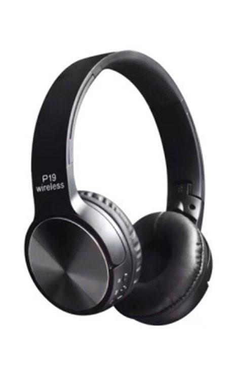 Наушники с микрофоном P19 Bluetooth черные