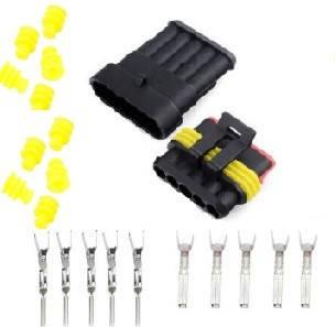 Разъем автомобильный электрический герметичный DJ7051-1.5 комплект 5pin, фото 2