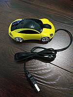 Мышь компьютерная проводная, желтая.