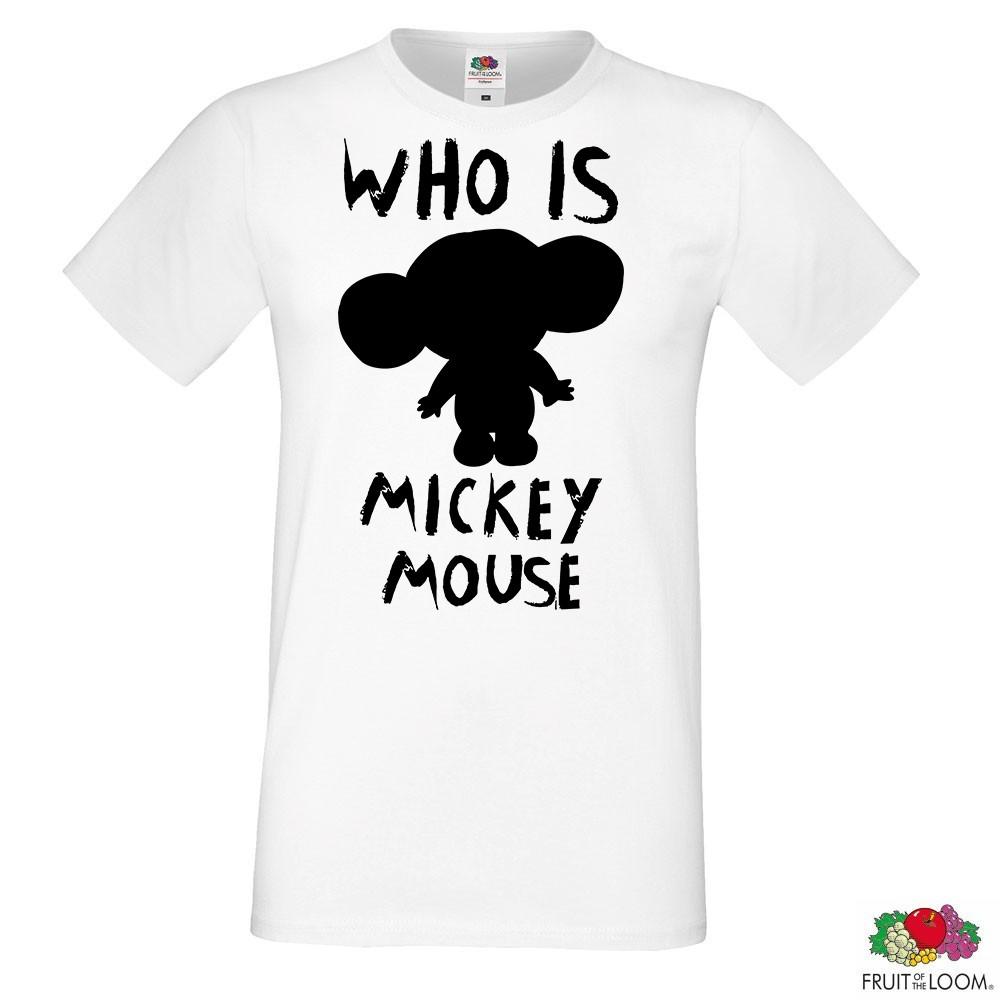 "Мужская футболка с принтом, Swag Mickey Mouse (Микки Маус) ""Who is Mickey Mouse"" Push IT"