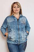 Джинсовый пиджак Luizza (Турция)  50 52 54 56 58 60 62 64 р