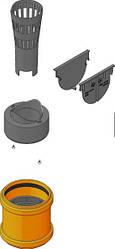 Комплект аксессуаров для линейного водоотвода HAURATON TOP X Германия
