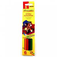 Олівці кольорові MARCO Пегашка 6 кол, шестигранні