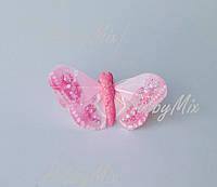 Бабочка РОЗОВАЯ 5 см., фото 1