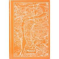 Книга записная А4 Maps Prague, 96л., кл., персиковый