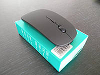 Мышка MOUSE 139C wireless charge 70black 30 silver