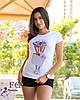 """Стильная футболка с принтом """"Bouquet"""", фото 2"""
