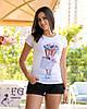 """Стильная футболка с принтом """"Bouquet"""", фото 4"""