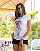 """Стильная футболка с принтом """"Bouquet"""", фото 5"""