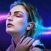 ☀Беспроводные Bluetooth наушники KUMI T3S Black Блютуз 5 LED дисплей влагозащищенные гарнитура с зарядкой ★, фото 3