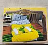 """Комплект постельного белья (12001) двуспальное евро 200*220 """"Кактусы"""" бязь Ранфорс - Фото"""