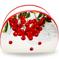 Салфетница керамічна Калина червона