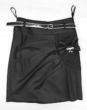 Юбка для девочки в школу р. 6-12 лет черная