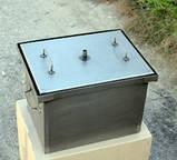 Домашня коптильня гарячого копчення з гідрозатворів (400х300х280), фото 2