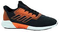 """Мужские Кроссовки Adidas Climacool 2.0 """"Black Orange"""" - """"Черные Оранжевые"""" (Реплика ААА+)"""
