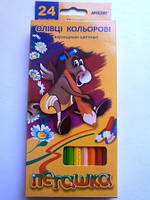 Олівці кольорові MARCO Пегашка 24 кол, шестигранні