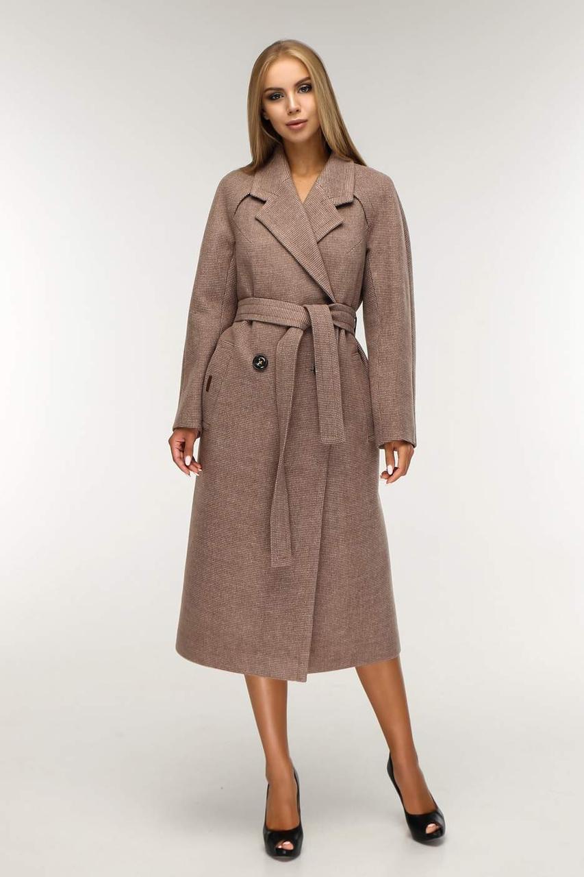 Демісезонне шерстятне пальто в класичному стилі